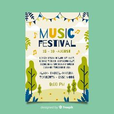 Music Festival Logos, Festival Flyer, Festival Posters, Event Poster Template, Flyer Template, Free Brochure, Festival Background, Event Banner, Texts