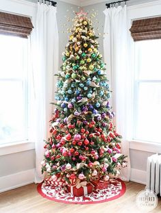 A Colorful Christmas Tree | Inspired by Charm #IBCholiday #12days72ideas #myBGT