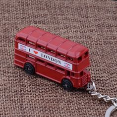 KC-98 exquisite UK  i love london red bus key chains  high quality Personality silver plated  KeyChains