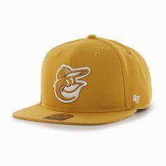 88d21fd44c8 Baltimore Orioles Sure Shot Wheat 47 Brand Adjustable Hat