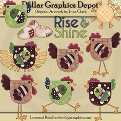 Rise and Shine 1 - Clip Art - $1.00 : Dollar Graphics Depot, Quality Graphics ~ Discount Prices