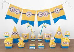 Foto y Diseño: POSTREADICCIÓN. Impresión y recorte aquí: http://articulo.mercadolibre.com.ar/MLA-596407215-cumpleanos-minions-kit-deco-impresion-y-recorte-_JM