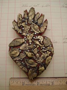 Mexican Milagro Heart Milagros Miracles by studiosblackbird