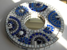 Stunning Aegean Mosaic Mirror by TheMosartStudio on Etsy, $130.00