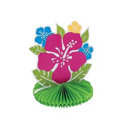Tropical Flower Centerpiece - OrientalTrading.com