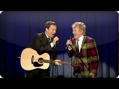 """Rod Stewart and Jimmy Fallon Perform """"Dancin' With You All Night Long by..."""