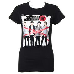 5 Seconds Of Summer Album Cover Skinny T Shirt (Black)