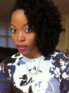 Natural hair style with crochet braids