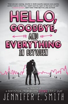 Hello, Goodbye, And Everything In Between by Jennifer E. Smith (YA FIC Smith). High school sweethearts Clare and Aidan spend the night before they leave for college reminiscing about their relationship and deciding whether they should stay together or break up.