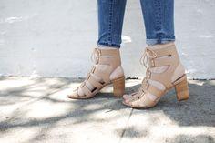 Loeffler Randall    leather gladiator heel