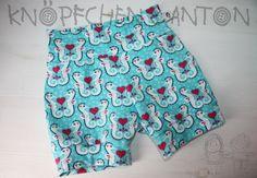Hosen - Shorts mit Bündchen, Seepferdchen - ein Designerstück von knoepfchenundanton bei DaWanda