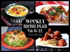 Weekly Menu Plan from Jamie Cooks It Up! #whatsfordinner, #weeklymealplan, #jamiecooksitup