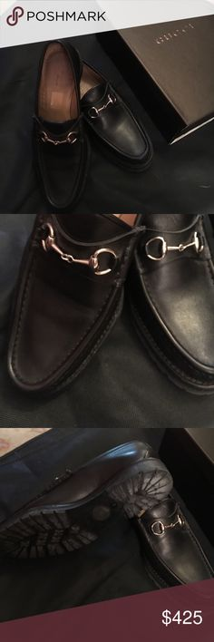 Gucci loafers Gucci horse bit black loafers threaded bottoms worn few times Gucci Shoes Flats & Loafers