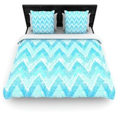 Mint Snow Chevron by Marianna Tankelevich Duvet Cover Size: King,... ($235) ❤ liked on Polyvore featuring home, bed & bath, bedding, duvet covers, furniture, room, king duvet, fabric bedding, chevron duvet and king size duvet