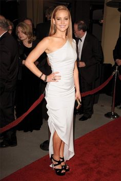 jennifer lawrence | who knew white could be so edgy?