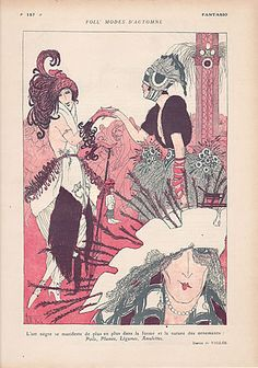 Fantasio Armand Vallee 1919 The influence of the African Art in the Fashion illustrated by Armand Vallée | Hprints.com