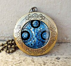 Dr Who masters fob watch glowing vintage pendant locket necklace - ready for gifting