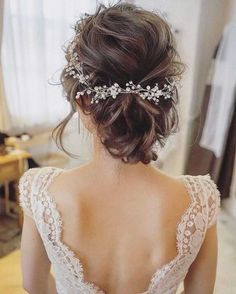 Bridal hair vine Crystal and Pearl hair vine Hair Vine Brida. - Bridal hair vine Crystal and Pearl hair vine Hair Vine Bridal Hair Vine Wedding Hair Vine Crystal H - Boho Hairstyles For Long Hair, Hairstyles 2018, Beautiful Hairstyles, Bride Hairstyles Short, Hairstyle Ideas, Trendy Hairstyles, Short Bridesmaid Hairstyles, Teenage Hairstyles, Long Haircuts