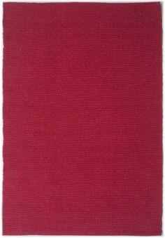 Solid Bright Red Flatweave Eco Cotton Rug - Hook & Loom  Wirecutter pick