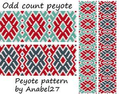 Peyote pattern  beadwork  ethnic style  bead by Anabel27shop