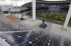 """The 120 panels represent what the Royals and Kansas City Power & Light call """"the largest in-stadium solar array in Major League Baseball,"""""""
