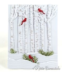 Cards-Christmas Trees on Pinterest | Christmas Cards, Memories Box an ...