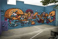 Here is a collection of recent pieces from Austria-based graffiti writer, Sobekcis. Here is a collection of recent pieces from Austria-based graffiti. Gravity Art, Graffiti Murals, Black Books, Street Art, Illustration, Artist, Painting, Inspiration, Serbian