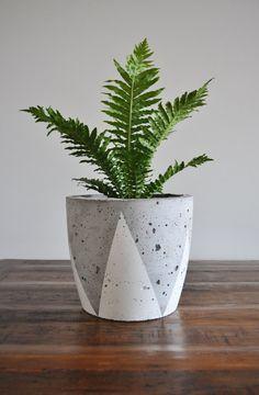 Concrete planter love