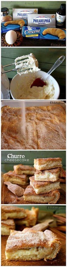 Churro Cheesecake Bars See More Http Recipesheaven Com Paleo