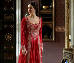 Ayse's beaded pink/red dress - 2x10 This is the... - Magnificent Wardrobe