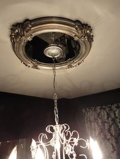 Black Ceiling Medallion Inspiration Diy Ceiling Medallion  Home  Pinterest  Ceiling Medallions Design Inspiration