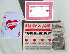 black + red wedding invitations