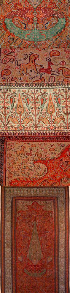Antique Persian Kerman Shawl Termeh, Hand woven, Wool, Qajar Dynasty 1795…  Peindre 0b339f29c98