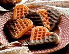 Hartjeswafels met chocolade