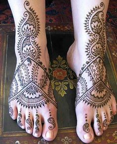 Mehndi Design Henna Art: Abstract Foot Mehndi Design No 02