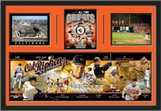 Cal Ripken. Jr. Baltimore Orioles Panoramic With 3 Photos Framed-Awesome Product