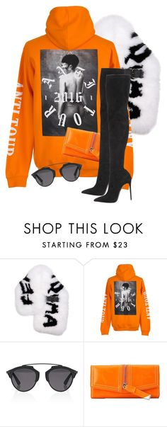 """""""Untitled #3554"""" by xirix ❤ liked on Polyvore featuring Fendi, Christian Dior and Le Silla"""