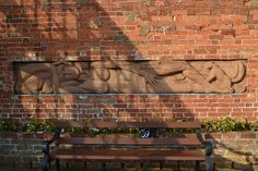 Walter Ritchie relief brick sculpture, Delapre Abbey Northampton by patchworkpolly, via Flickr