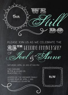 Anniversary Party Invitation by sweetsugarpaperie on Etsy, $15.00