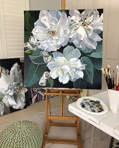 Jenny Fusca Gemälde – Hobbies paining body for kids and adult Peony Painting, Acrylic Painting Flowers, Diy Painting, Art Floral, Art Mural Floral, Art Sur Toile, Botanical Art, Beautiful Paintings, Painting Inspiration