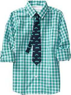 Shirt & tie set - Endless Summer | Old Navy. Totally Kaiden's style!!
