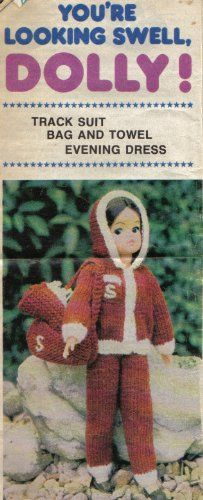 Sindy Dolls Clothes Knitting Pattern: Track Suit, Bag, Towel, Evening Dress Newspaper Pull Out Pattern: Amazon.co.uk: Unknown: Books