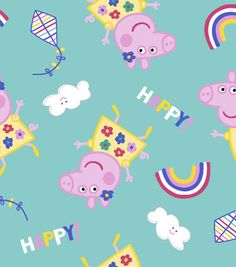 Peppa Pig Cotton Fabric 43''-Kites
