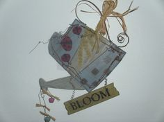 Bloom Watering can primitive hanger by judypope on Etsy, $15.00