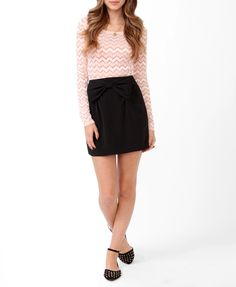Fitted Zigzag Lace Top | FOREVER21 - 2025285418 $17.80