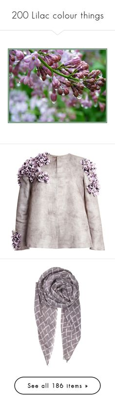 """200 Lilac colour things"" by lorika-borika on Polyvore featuring outerwear, jackets, tops, flower print jacket, pink jacket, floral-print bomber jackets, giambattista valli jacket, pink floral jacket, accessories и scarves"