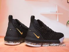 low priced e43e4 cad68 Nike LeBron 16 Black Gold-White New Year Deals