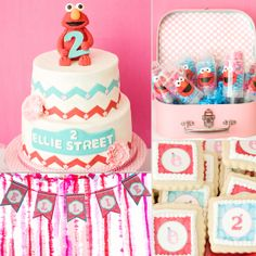 A Girlie Elmo-Inspired Birthday Party but for my lil FB