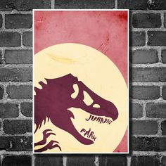 Where to put this?  Movie poster vintage poster retro print film poster Jurassic Park 11x17 print. $19.00, via Etsy.