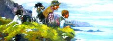 Painting, From a Cliff top, Ireland Irish People, Irish Art, Nature Paintings, Cliff, Ireland, Original Paintings, Landscape, Artist, Top
